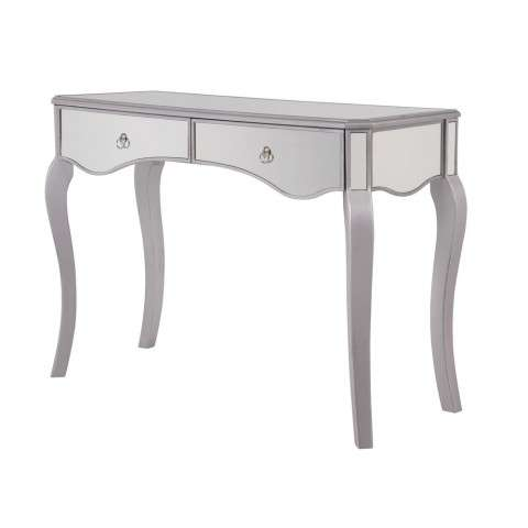 2 Drawers Dressing table 42 in. x 18 in. x 31 in. in Silver paint