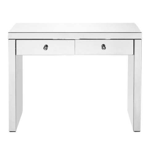Console Table 39 in x 14 x30 in. in Clear