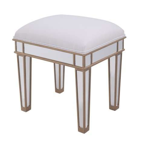 Dressing stool 18 in. x 14 in. x 18 in. in Gold paint
