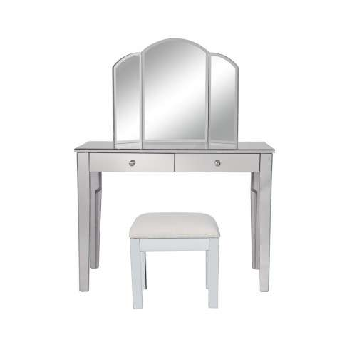 Vanity Table and Mirror and Chair