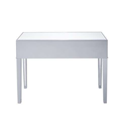 Desk 42in. W x 18in. D x 30in. H in antique silver paint