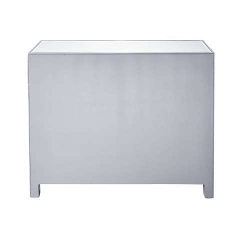 Chest 3 drawers 40in. W x 16in. D x 32in. H in antique silver paint