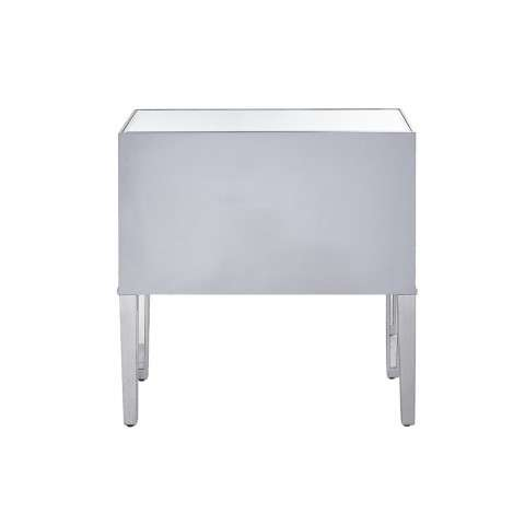 Nightstand 2 drawers 34in. W x 16in. D x 34in. H in antique silver paint