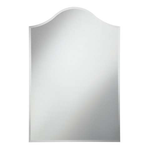 Modern 28 in. Contemporary Mirror in Clear