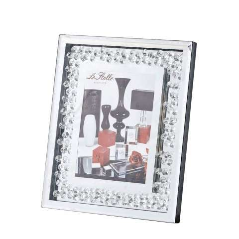 Sparkle 11 in. Contemporary Crystal Photo frame in Clear