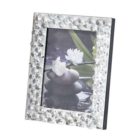 Sparkle 8 in. Contemporary Crystal Photo frame in Clear