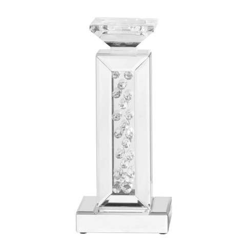 Sparkle 6 in. Contemporary Crystal Candleholder in Clear