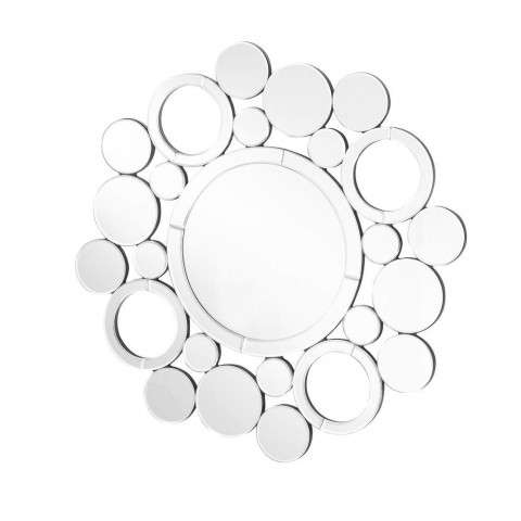 Sparkle 29 in. Contemporary Round Mirror in Clear