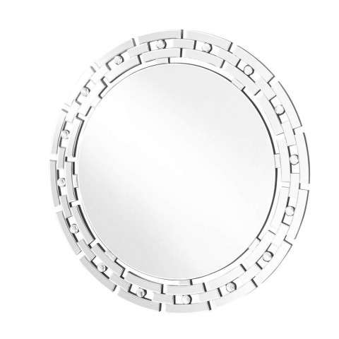 Sparkle 36 in. Contemporary Round Mirror in Clear