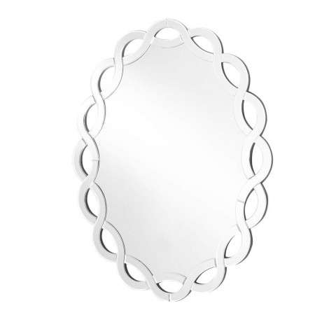 Sparkle 27 in. Contemporary Round Mirror in Clear