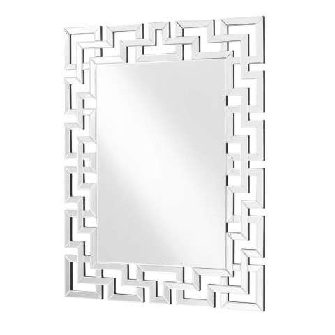 Sparkle 37.5 in. Contemporary Rectangle Mirror in Clear