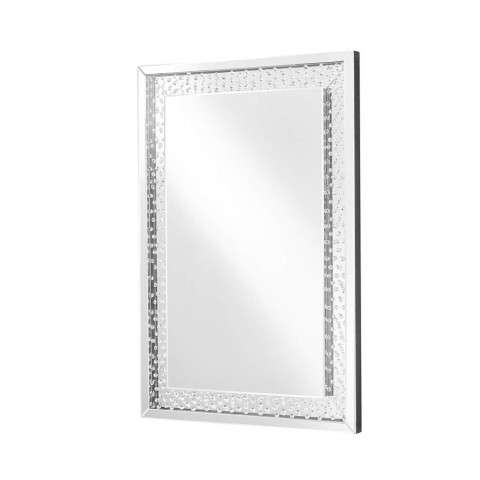 Sparkle 31 in. Contemporary Rectangle Mirror in Clear