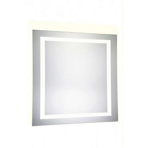 "4 Sides LED Hardwired Mirror Rectangle W36""H36"" Dimmable 5000K"