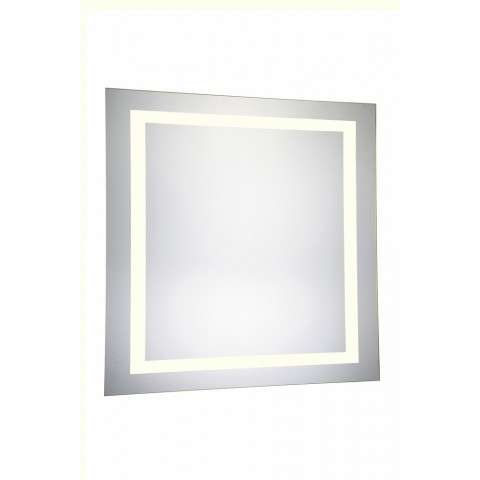 "4 Sides LED Hardwired Mirror Rectangle W36""H36"" Dimmable 3000K"
