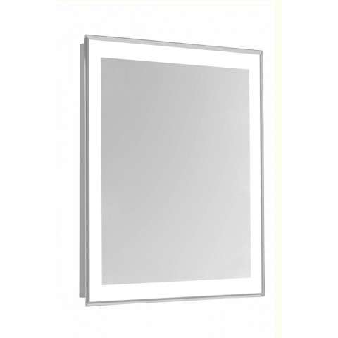 "4 Sides LED Edge Hardwired Mirror Rectangle W24""H40"" Dimmable 5000K"