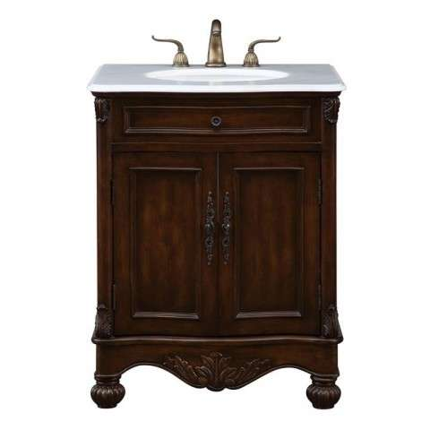 27 in. Single Bathroom Vanity set in Teak color