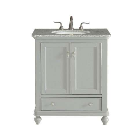 30 in. Single Bathroom Vanity set in Light Grey