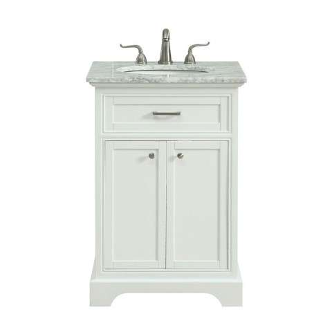 24 in. Single Bathroom Vanity set in White