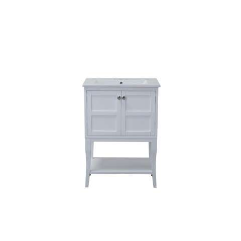 2 Doors Cabinet 24 in. x 18 in. x 34 in. in White