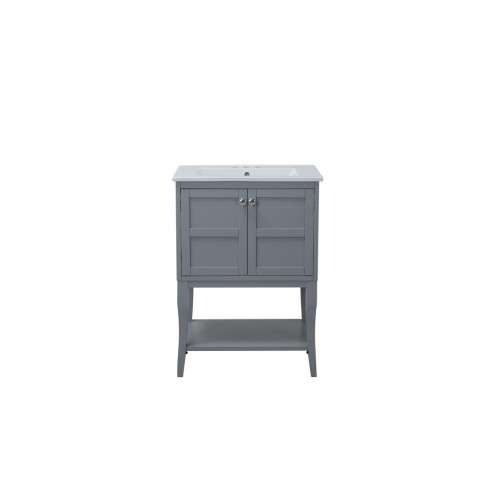 2 Doors Cabinet 24 in. x 18 in. x 34 in. in Grey
