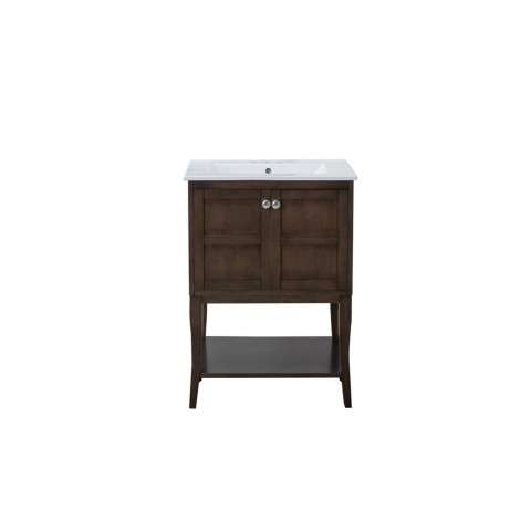 2 Doors Cabinet 24 in. x 18 in. x 34 in. in Antique Coffee