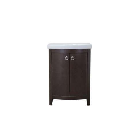 2 Doors Cabinet 24 in. x 18 in. x 34 in. in Dark Walnut