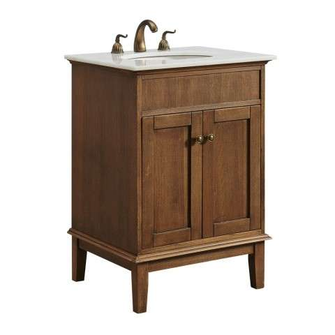 24 in. Single Bathroom Vanity set in Chestnut Wood