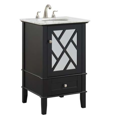 21 in.Single Bathroom Vanity set in Black
