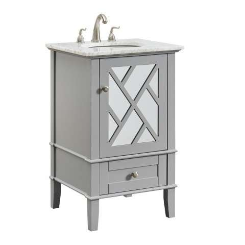 21 in. Single Bathroom Vanity set in Grey