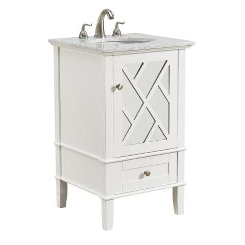 21 in. Single Bathroom Vanity set in White