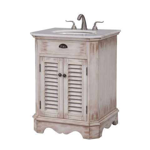 26 in. Single Bathroom Vanity set in White Wash