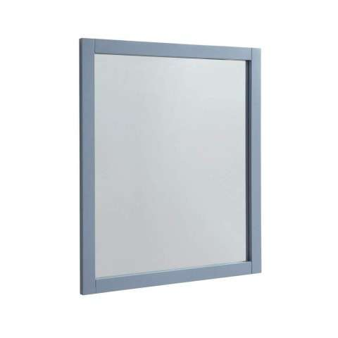 Park Avenue 30 in. Contemporary Mirror in Grey