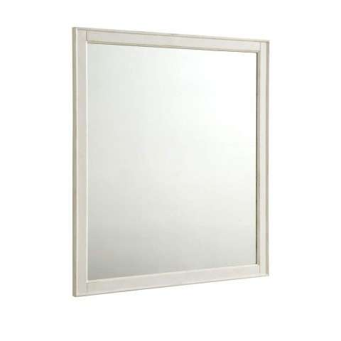 Lexington 32 in. Traditional Mirror in Antique White