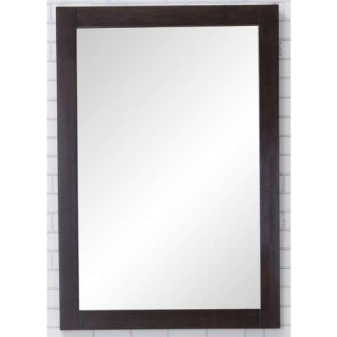 Aqua Vanity Mirror 22in. X 32in. in Dark Walnut