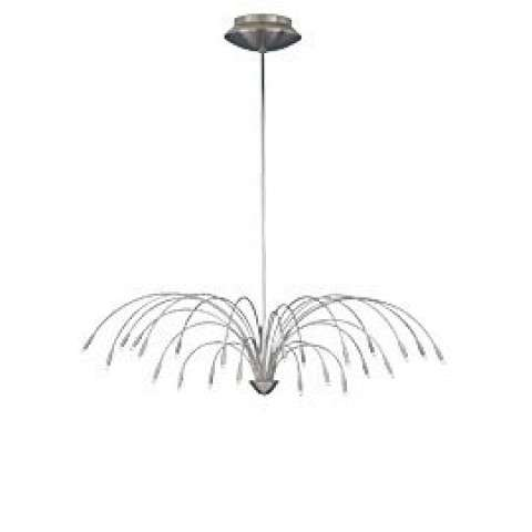 Tech Lighting 700STAC20S 24-light Staccato Chandelier fixture in Satin Nickel
