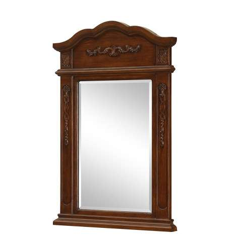 "Vanity Mirror 24"" x 36"" Brown"