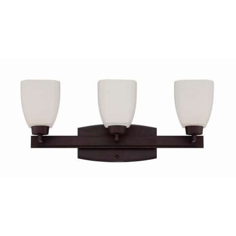 Bathroom Fixture - Bridwell 3 Light Vanity Fixture In Oiled Bronze