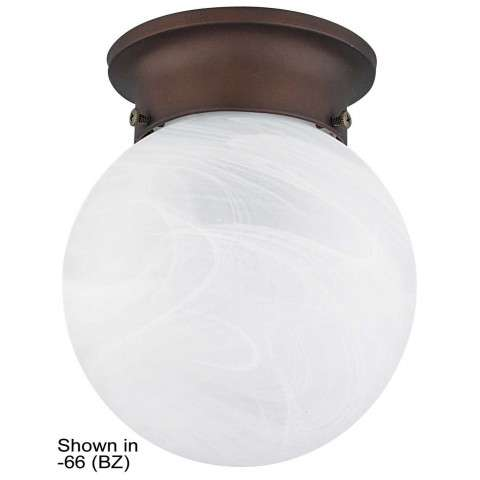 Sunset Lighting F2213-62 6 inch Faux Alabaster Globe Fixture in Rubbed Bronze Finish