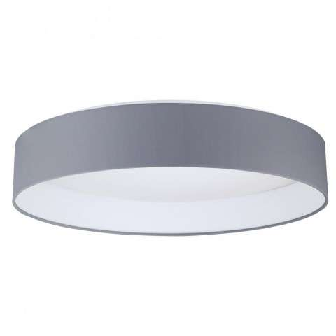 Palomaro 1x22W LED Ceiling Light w/ White Glass and Charcoal Grey Fabric Shade