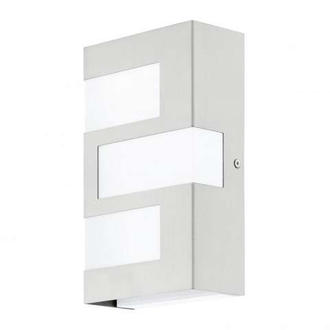 Ralora 3x2.5W LED Outdoor Wall Light w/ Stainless Steel Finish and White Plastic Glass