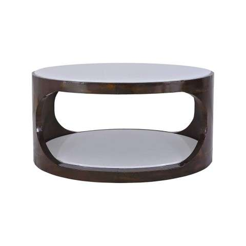 Mister Mod Coffee Table in Antique Brass - Cappuccino Foam