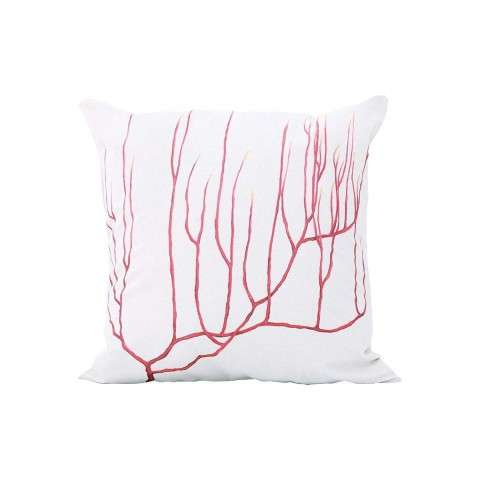 Tropical Coral Pillow - Handpainted Art