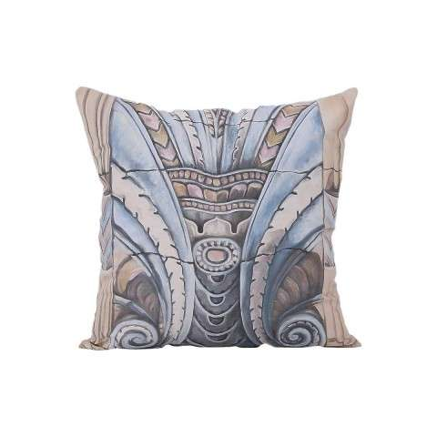 Art Deco Ornament Pillow - Handpainted Art
