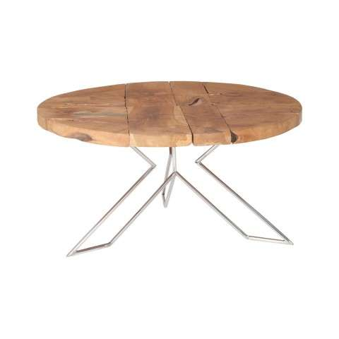 Abstract Priyo Accent Table In Natural Finish