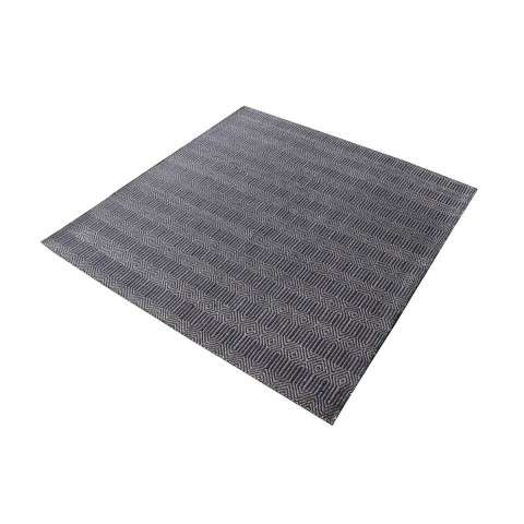 Ronal Handwoven Cotton Flatweave In Charcoal - 16 - Inch Square in Charcoal