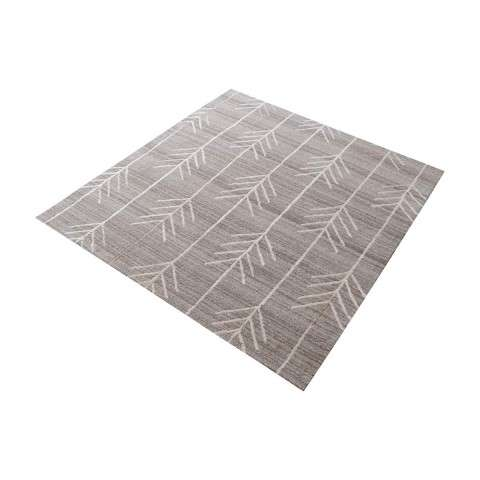 Armito Handtufted Wool Rug In Warm Grey - 16 - Inch Square