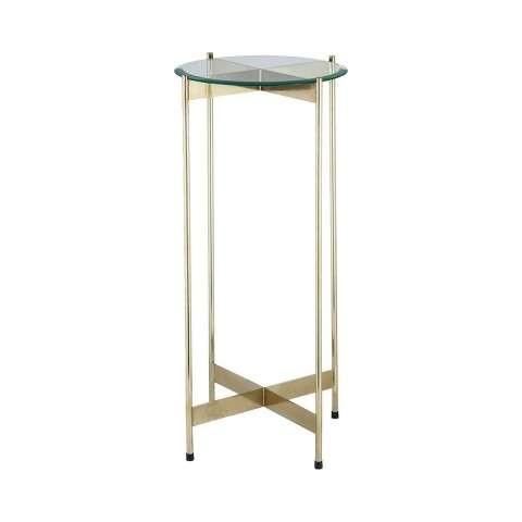 1 Wall Street Gold Accent Table in Gold