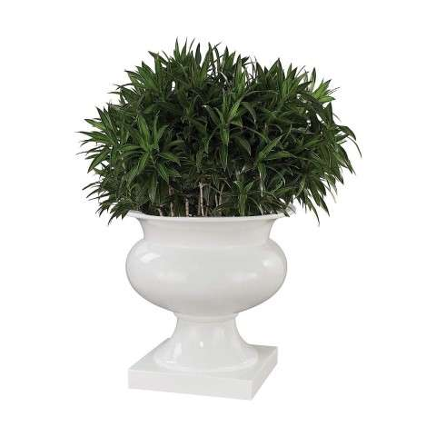 Jaya Bamboo Tuft Urn in Gloss White