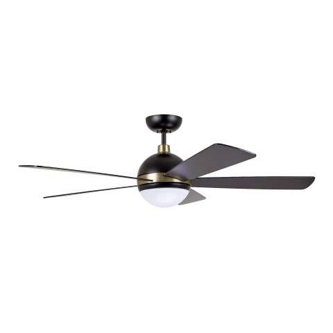 Emerson Astor 52 Inch Ceiling Fan Model CF235BQ in Barbeque Black with Satin Gold Accents