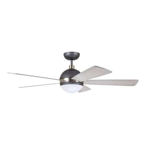 Emerson Astor 52 Inch Ceiling Fan Model CF235GRT in Graphite with Brushed Steel Accents